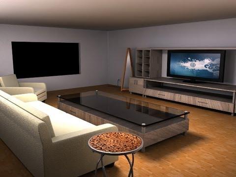 Maya Modeling Tutorial- modeling a living room part- 1