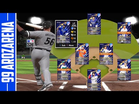 99 randy arozarena goes deep back to back hrs mlb the show 20 diamond dynasty youtube youtube
