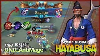 Scarlet Phantom Worth it for Hayabusa? Savage Perfect by ONIC.AntiMage Top 1 Global Hayabusa ~ MLBB