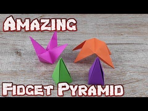 Origami Amazing Fidget Pyramid | How To Making An Easy Pyramid Transforming Tutorial | DIY Paper Box
