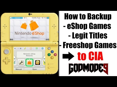 """How to Use Godmode9 - to Dump - """"eShop & Legit titles"""" to CIA (+ Backup Saves)"""