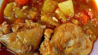 Çorbë me perime dhe kofshë pule | Chicken stew with vegetables recipe (in Albanian)