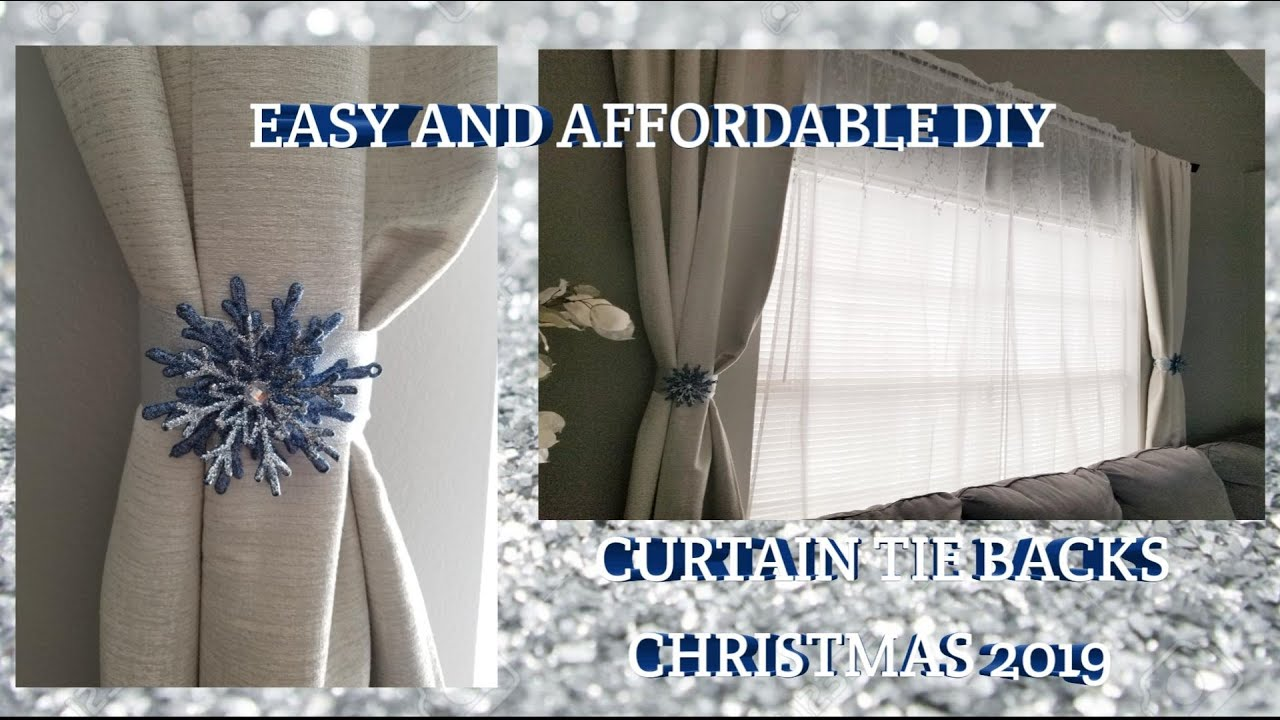 how to make curtain tie backs christmas 2019 curtain tie backs diy very easy and affordable