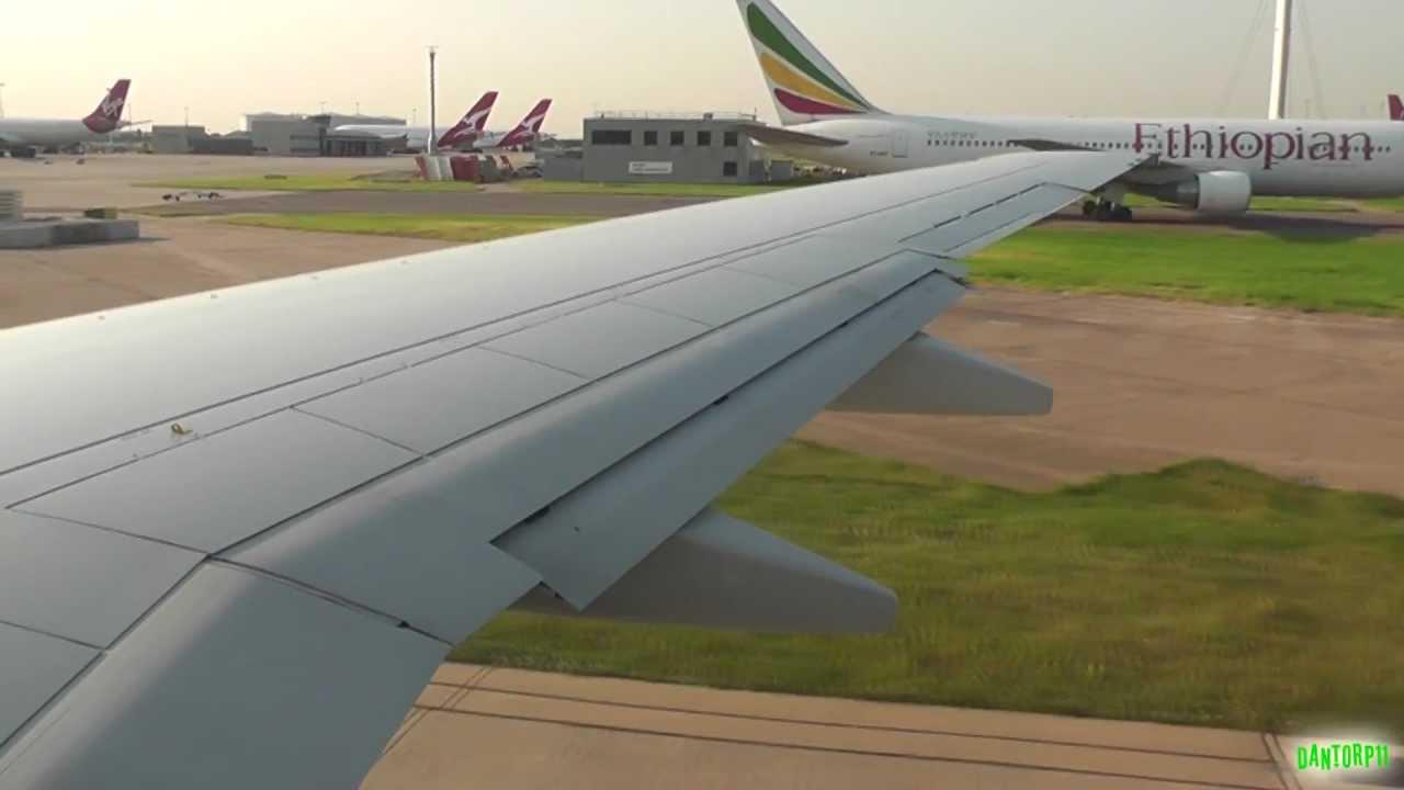 SAS 737-700 Summer's Evening Takeoff from London Heathrow!