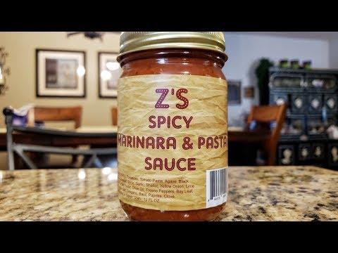 "Z's Hot Sauce and Marindade ""Z's Spicy Marinara & Pasta Sauce"" Review"