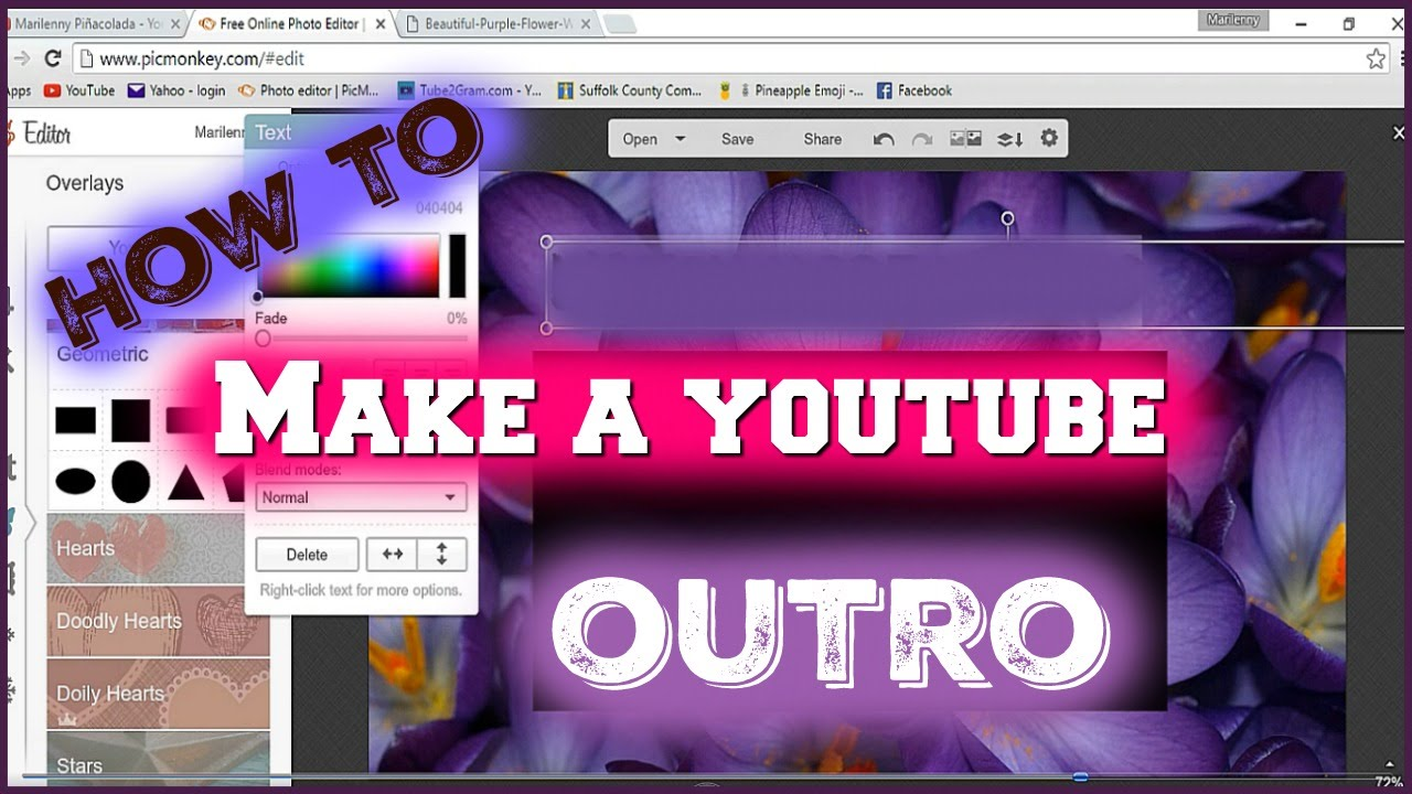 How to make a simple outro windows movie maker youtube for Be a maker