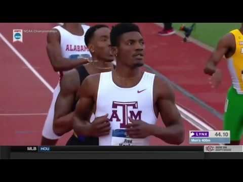 2017 NCAA Division I Mens 400m Finals - Fred Kerley Triumphs