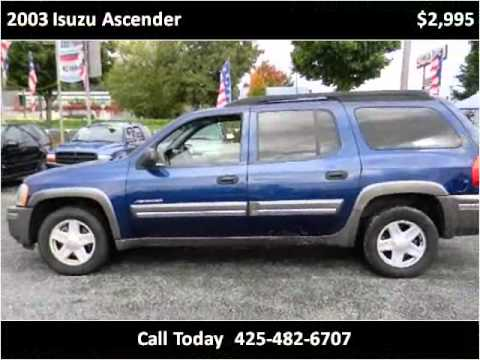 2003 isuzu ascender used cars seattle wa - youtube