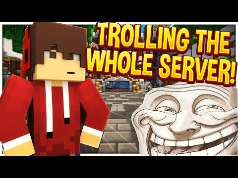trolling in minecraft server