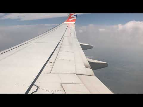 B737-800 Approach and landing in windy weather (from Hurghada to BTS)