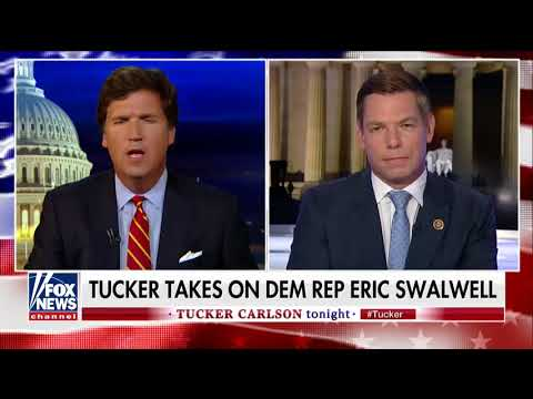 'I Thought You Were Against Subverting Democracy': Tucker Battles Dem on Calls to Oust Trump