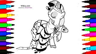My Little Pony Princess Rarity Coloring Books l Coloring Pages and Learn Colors for kids