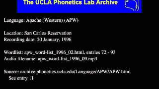 Western Apache audio: apw_word-list_1996_09