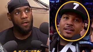 """Carmelo Anthony Says """"Lebron NEEDS ME To Win A RING"""" And Lebron Says """"RETIRE"""""""