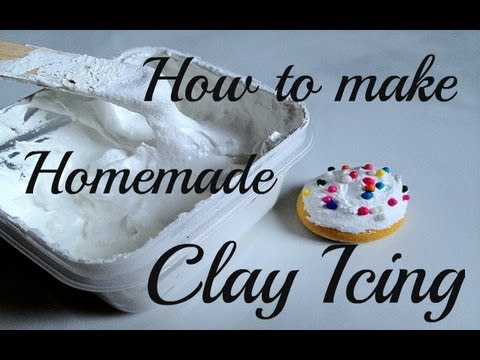 How to make Homemade Clay Pastry Icing/Frosting - YouTube