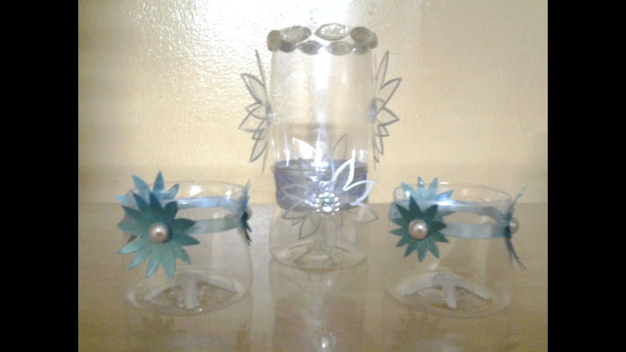 Best out of waste plastic bottles converted to glasses for Best out of waste useful