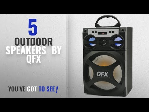 Top 10 Qfx Outdoor Speakers [2018]: QFX 6.5 Portable Party Speaker PBX-10, Black