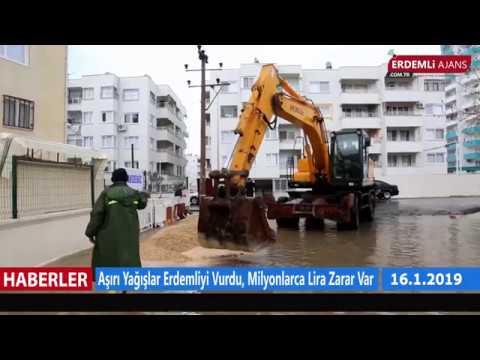 Aşırı Yağışlar Erdemli'yi Vurdu, Milyonlarca Lira Zarar Var