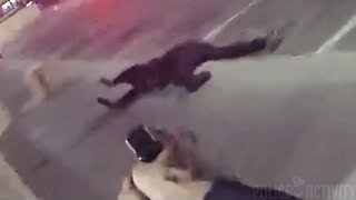 Bodycam Footage Of LMPD Officer Shooting Armed Robbery Suspect