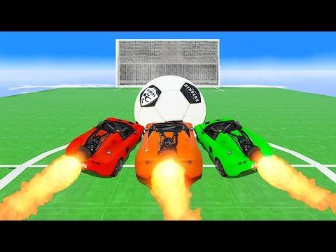 INTENSE ROCKET CAR FOOTBALL GAME!  GTA 5 Funny Moments