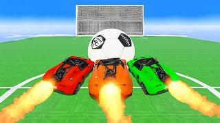 INTENSE ROCKET CAR FOOTBALL GAME! - GTA 5 Funny Moments