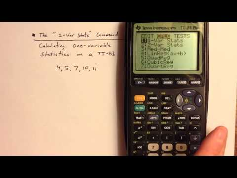 How To Use The TI-83 (or TI-84)