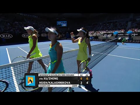 Xu/Zheng v Hsieh/Kalashinkova highlights (3R) | Australian Open 2016