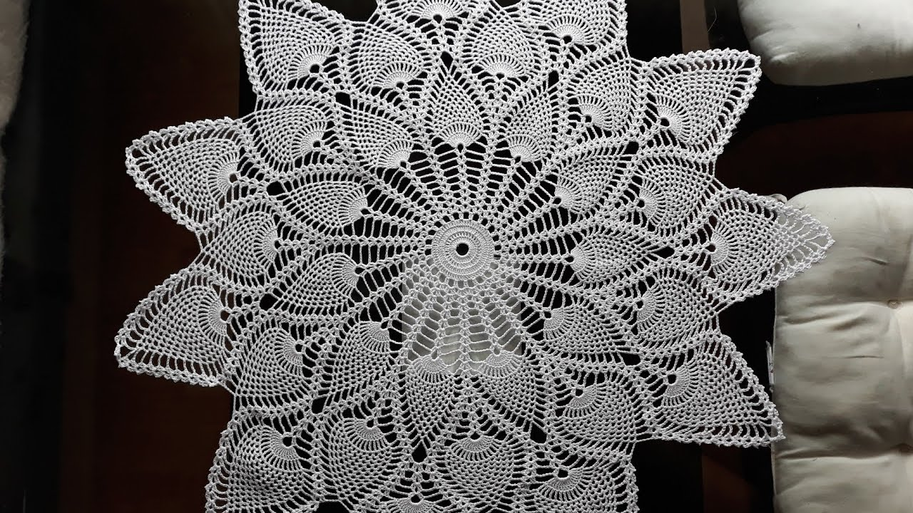 Crochet Pineapple Table Topper Pineapple Doily Part 13 Youtube