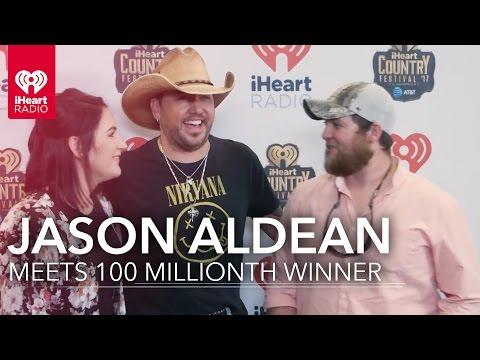 Jason Aldean Meets Fan at iHeartCountry   100 Millionth iHeartRadio Winner