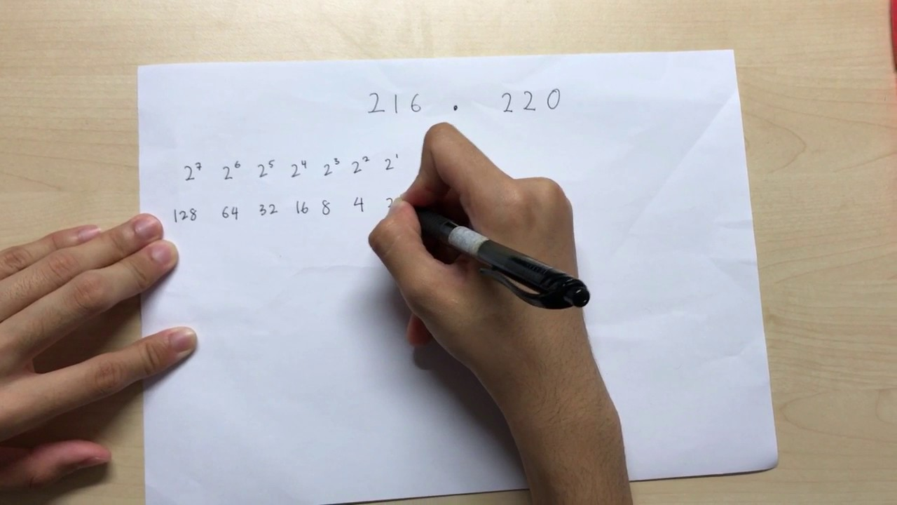 Converting binary numbers to dotted decimals and vice versa - video tutorial