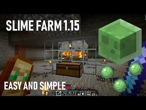 Minecraft Simple And Easy Slime Farm 1 16 Tutorial Youtube