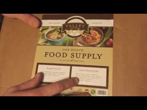 Valley food storage emergency food supply reveiw and cooking test
