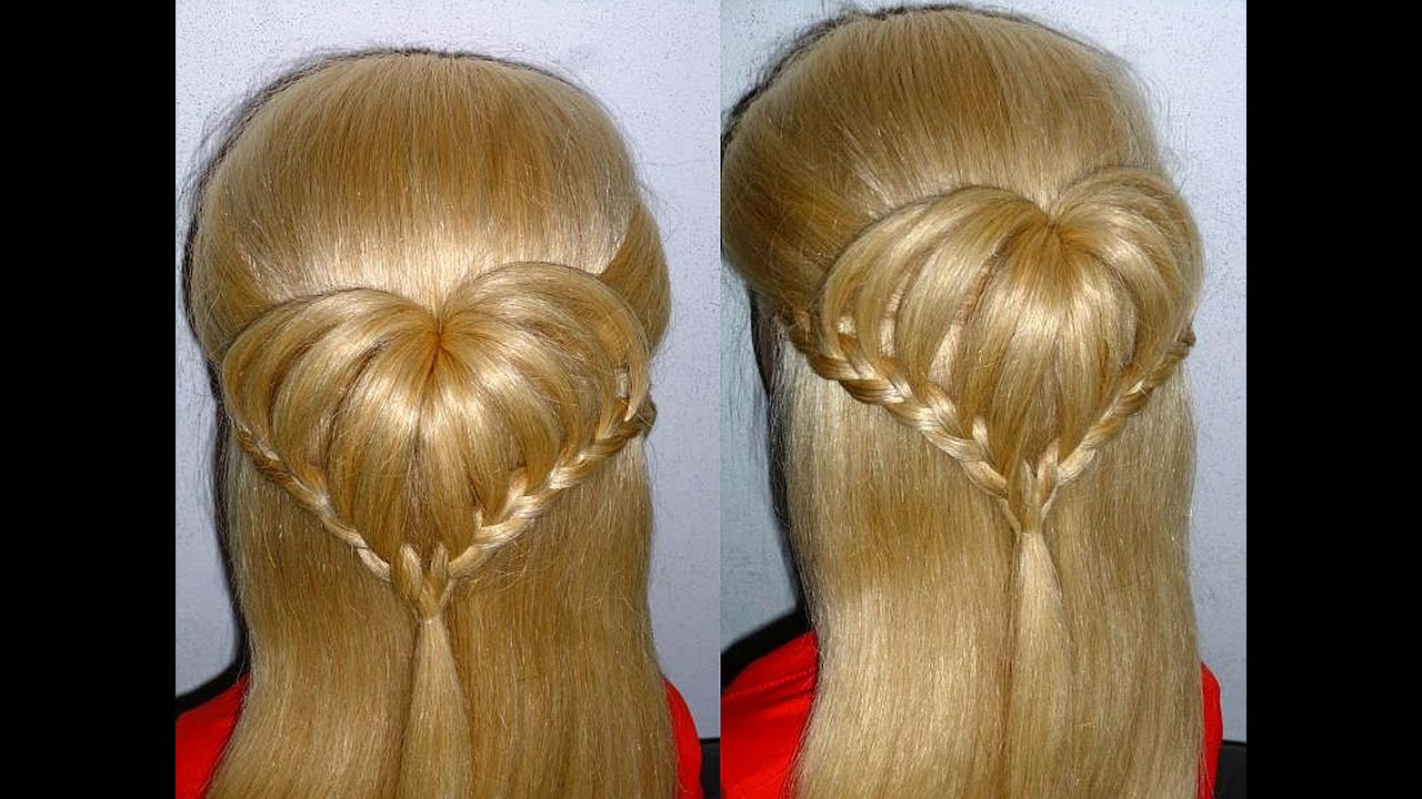 Einfache Flechtfrisuren Herz Frisur Fur Kinderhaare Heart Braid Hairstyle Peinados