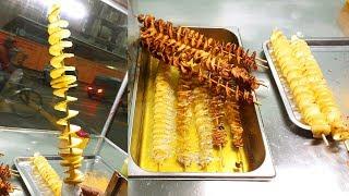 TORNADO POTATO | Most Popular Yummy Street Spiral Fried Potato Selling A Young Boy @ Tk 20