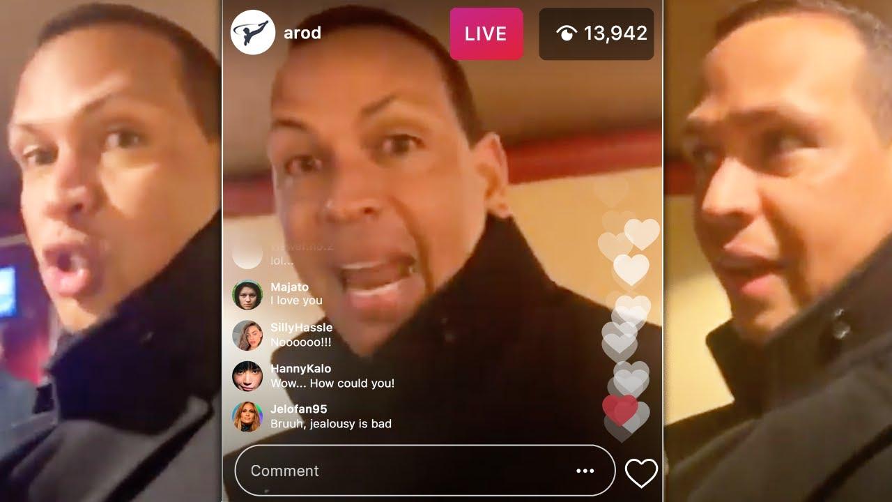 """She's Shady"" Alex Rodriguez Speaks On Jennifer Lopez (IG LIVE)"