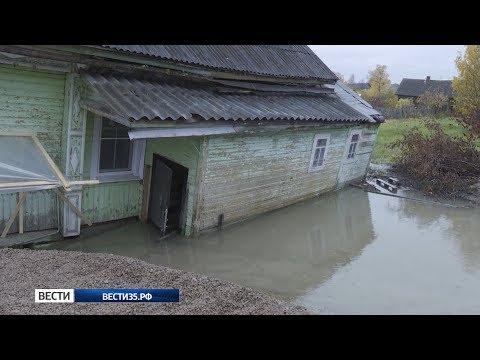 Уходящий под землю дом в Белозерске будут сносить