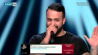 Ο Κωνσταντίνος Κυριάκου στο Team της Έλενας Παπαρίζου (The Voice of Greece 2)