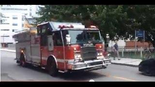 SIM 210 Pompier en route sirène hurlante - Montreal Fire Department responding