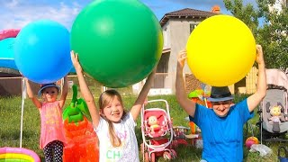 Color Song with Balloons. Nastya and Daddy have fun playtime with colors song. Baby TIme.