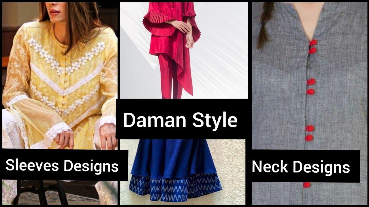 2020 Trending & Most Demanding Sleeves, daman, Neck  & Dress Designs Idea's
