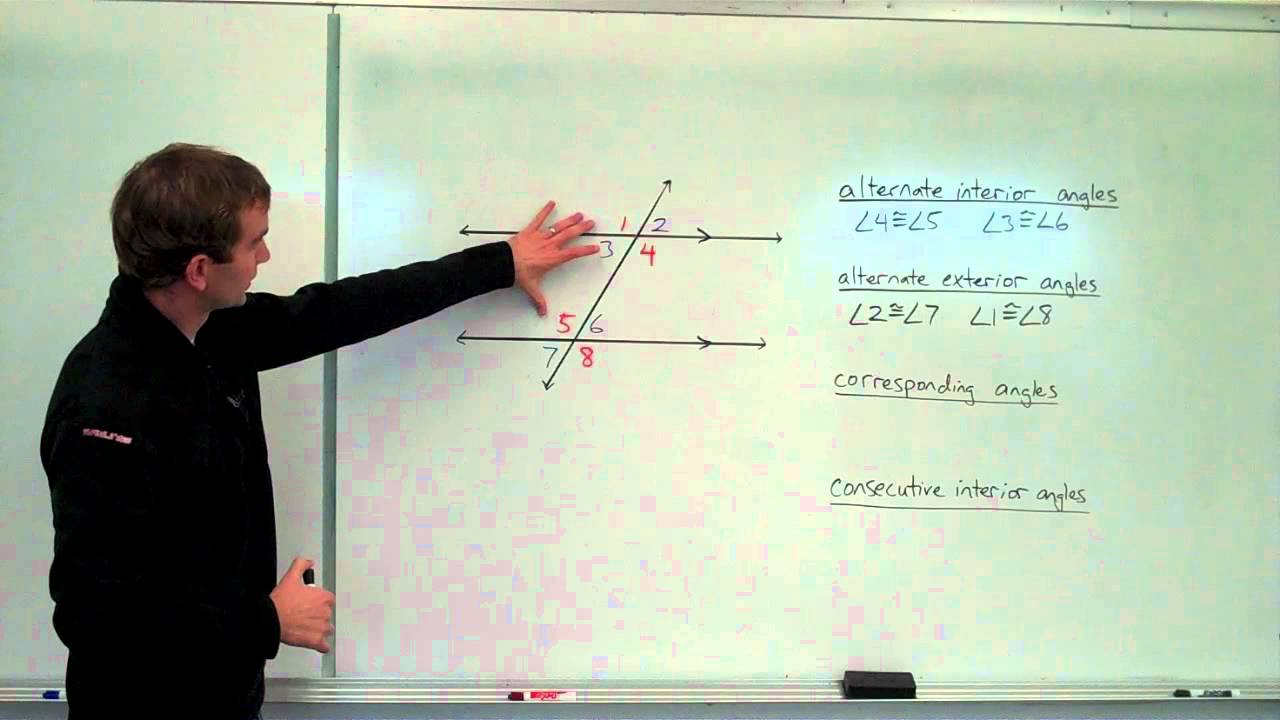 Geometry 3a Parallel Lines and Transversals angle relationships – Angle Relationships Parallel Lines Worksheet