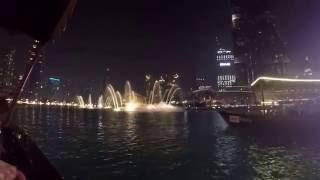 Dubai Fountain and Burj Khalifa - city where dreams come true