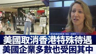 美取消港特殊待遇 香港美商會長:處境難|新唐人亞太電視|20200601