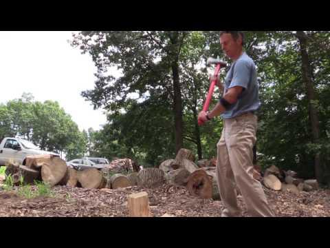Splitting Firewood with a Splitting Maul
