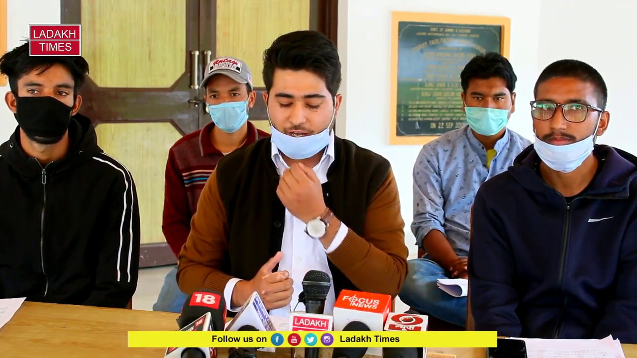 All Student Unions Joint Press Conference regard genuine issues of Ladakh