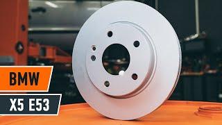 Como substituir a pastilhas de travão dianteiras, discos de travões dianteiros no BMW X5 E53