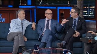 Journalists started feeling a little jealous they couldn't hold people accountable in the same way Jon and his correspondents could. Featuring Rob Corddry, Jon ...
