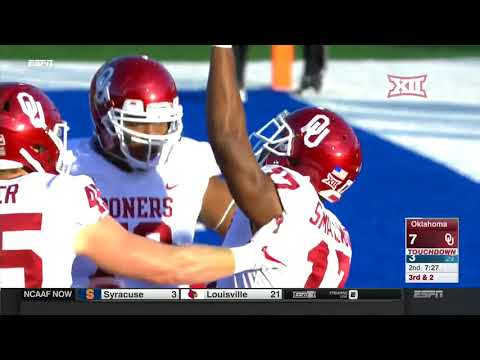 Oklahoma vs Kansas Football Highlights