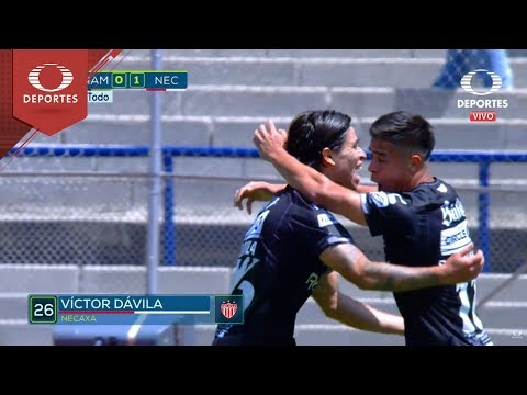 Gol de Víctor Dávila   UNAM 0 - 1 Necaxa   Apertura 18 - Jornada 2   Televisa Deportes