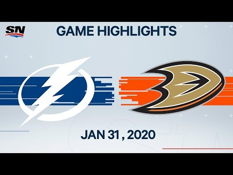 NHL Highlights | Lightning vs Ducks – Jan. 31, 2020